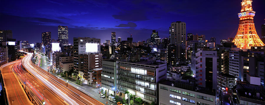Tokyo Panorama With Tokyo Tower Photograph by Krzysztof Baranowski