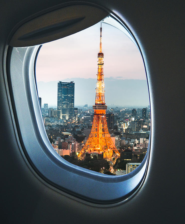 Tokyo Skyline With The Tokyo Tower Photograph by Franckreporter