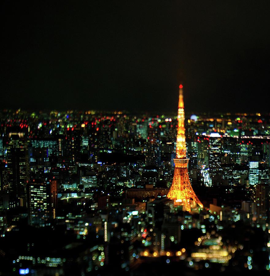 Tokyo Tower At Night Photograph by Ko Fujimura