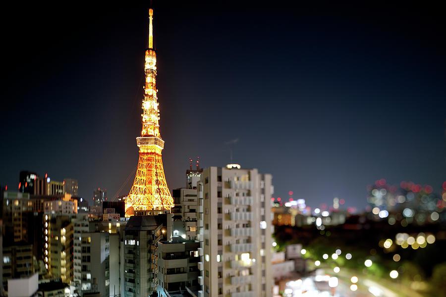 Tokyo Tower At Night Photograph by Vladimir Zakharov
