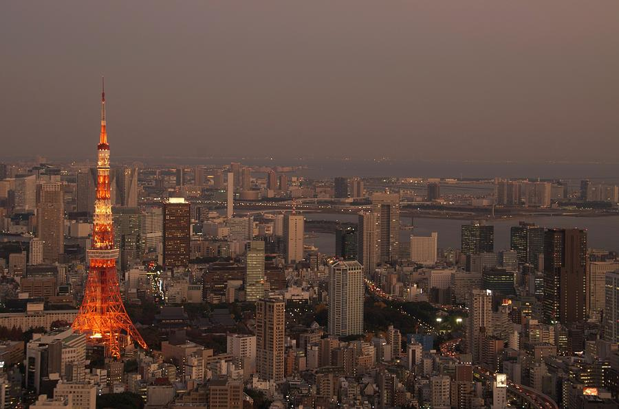 Tokyo Tower At Sunset Photograph by By Fatima Holmgren