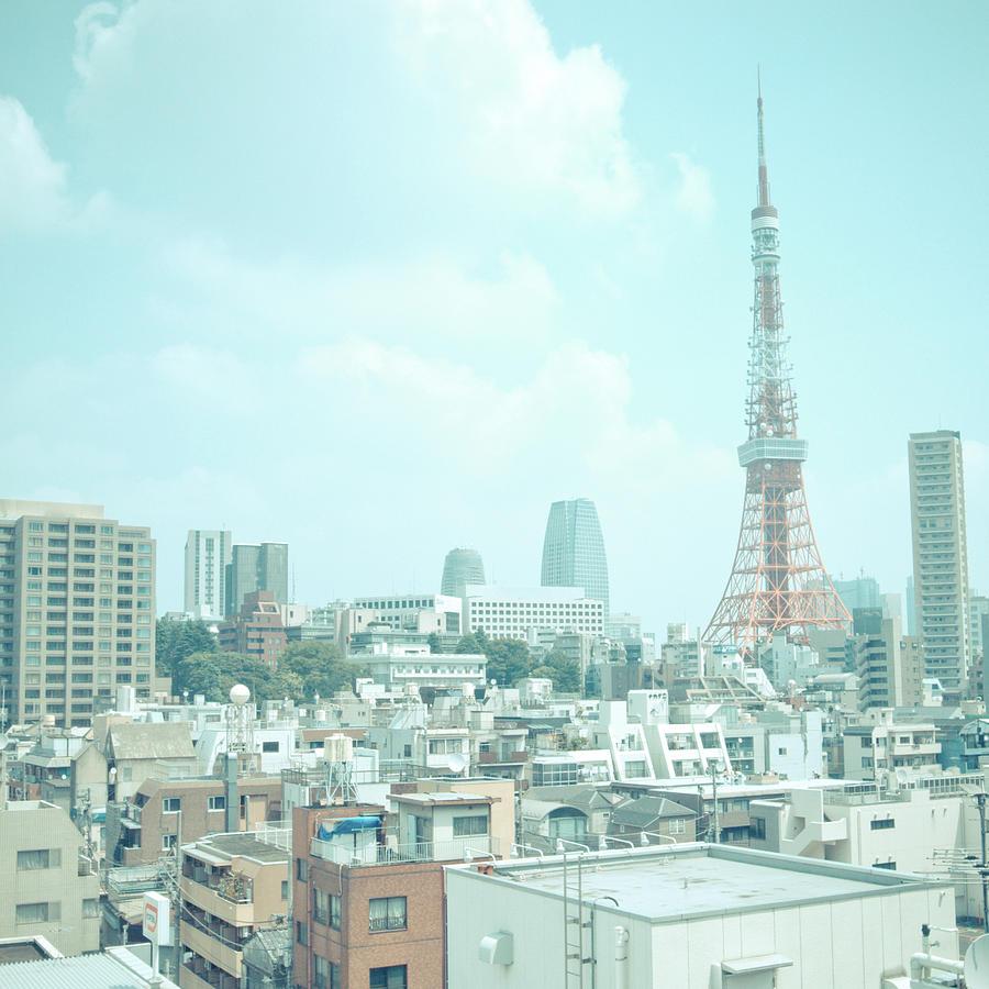 Tokyo Tower Photograph by Shigeto Sugita