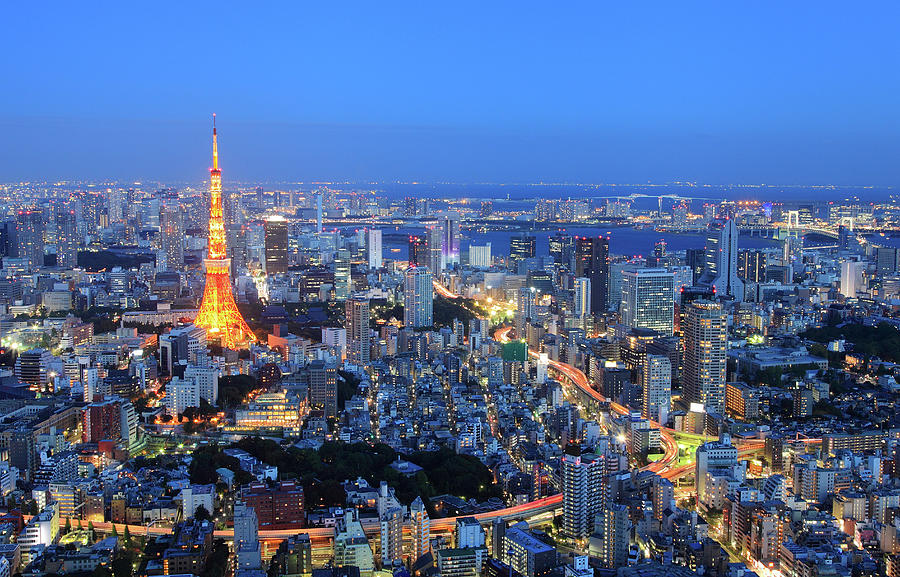 Tokyo Tower View From Mori Tower Photograph by Krzysztof Baranowski