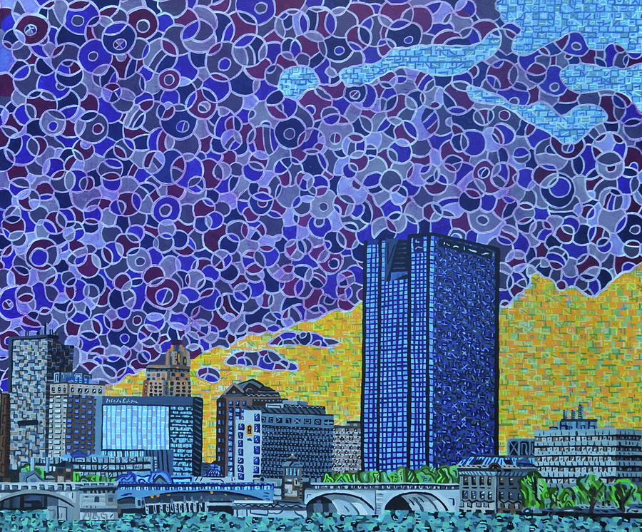 Toledo Painting - Toledo, Ohio by Micah Mullen