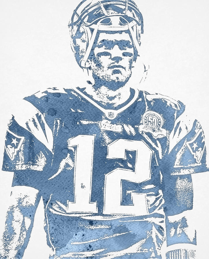 tom brady jersey drawing