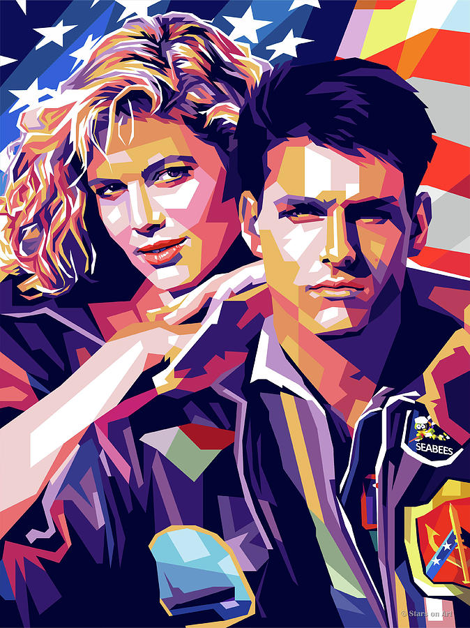 Tom Digital Art - Tom Cruise And Kelly Mcgillis by Stars on Art