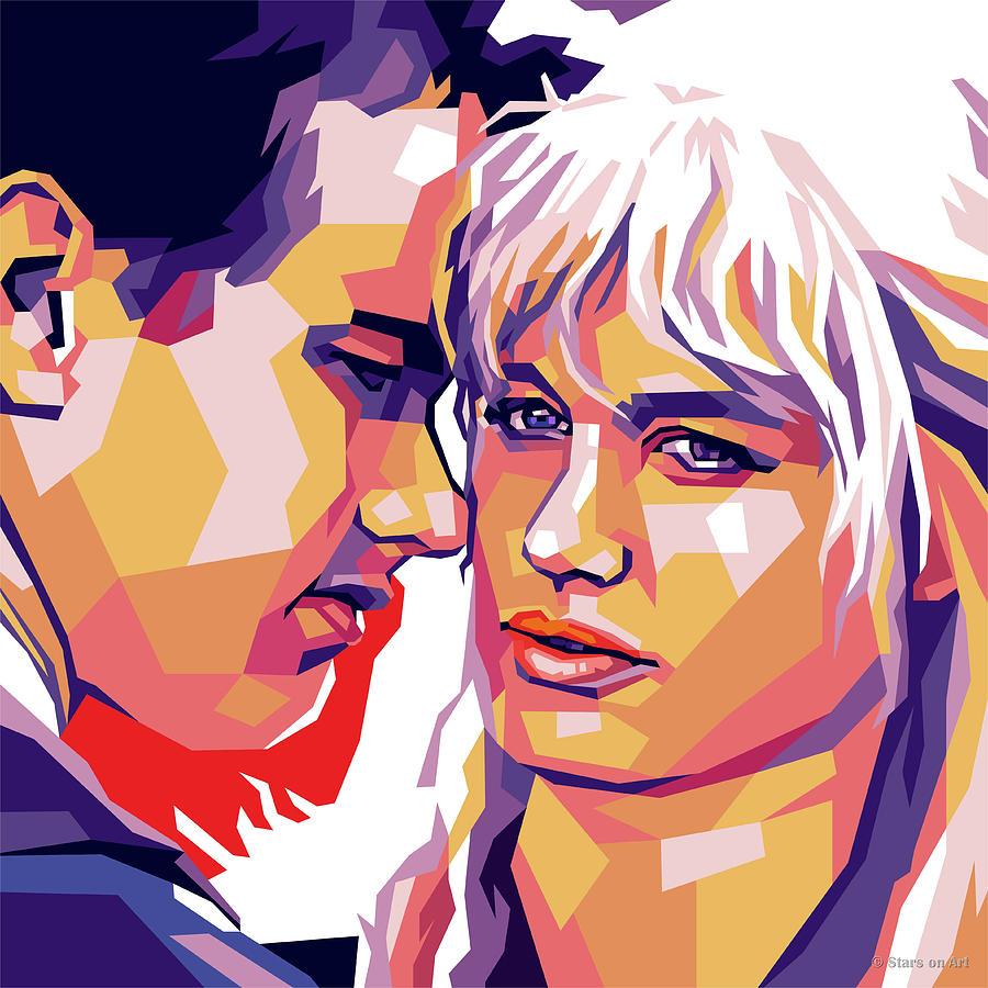 Tom Hanks And Daryl Hannah Digital Art