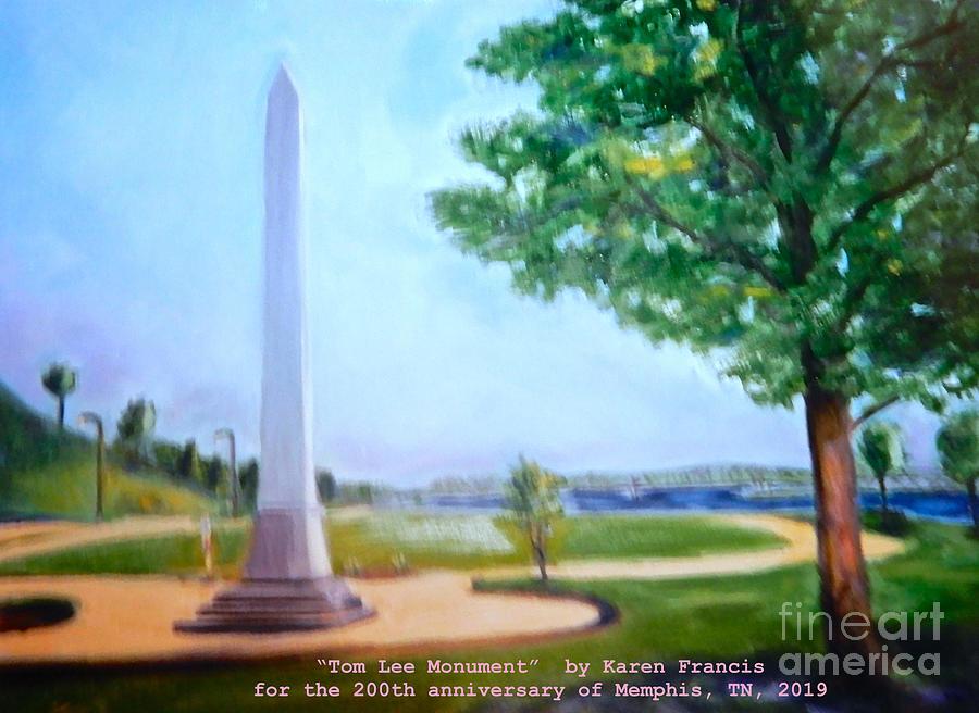 Memphis Digital Art - Tom Lee Monument Anniversary Print by Karen Francis