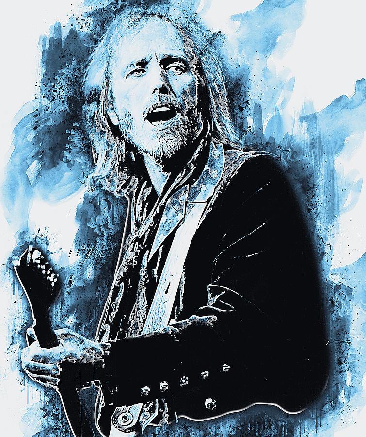 Tom Petty - 42 by Andrea Mazzocchetti