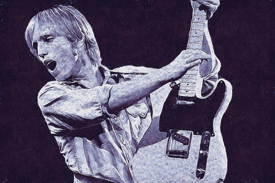 Tom Petty - 43 by Andrea Mazzocchetti