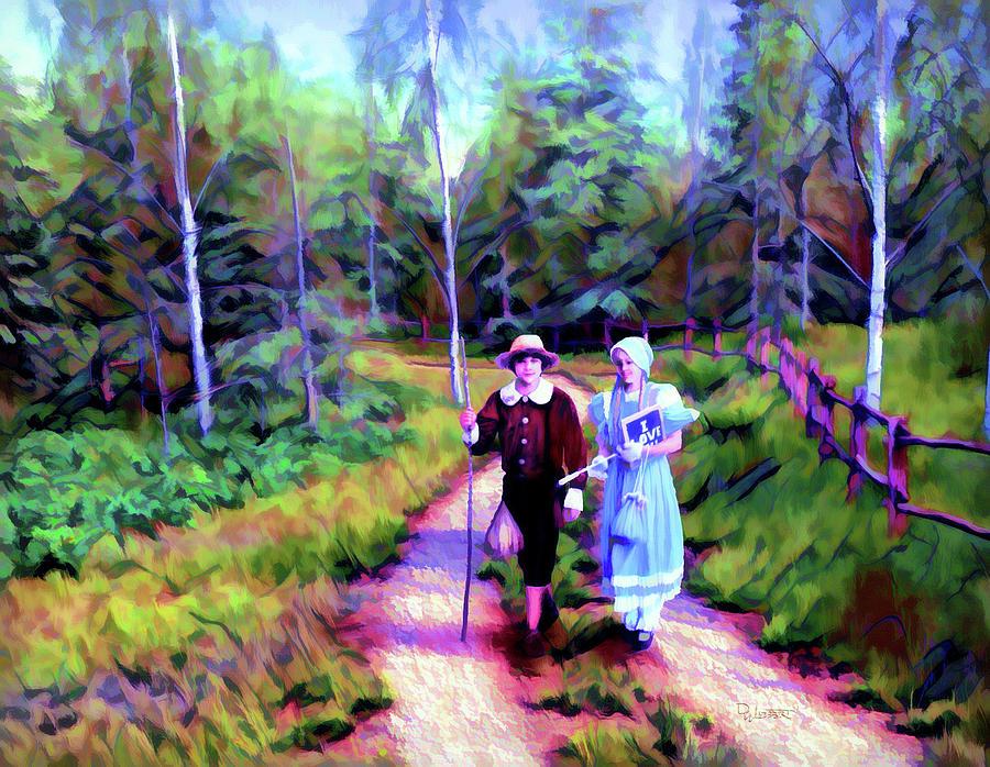 Tom Sawyer and Becky Thatcher by Dave Luebbert