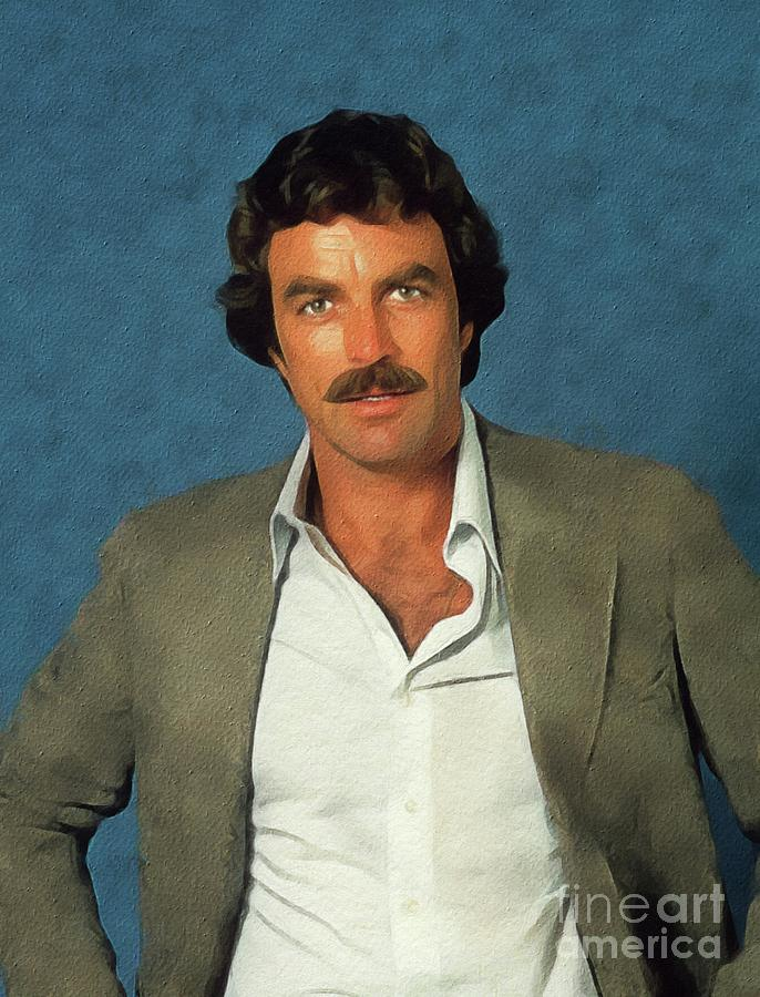 Tom Painting - Tom Selleck, Actor by John Springfield