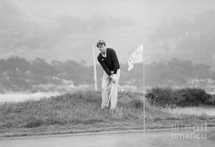 Tom Watson Putting From The Rough Photograph by Bettmann