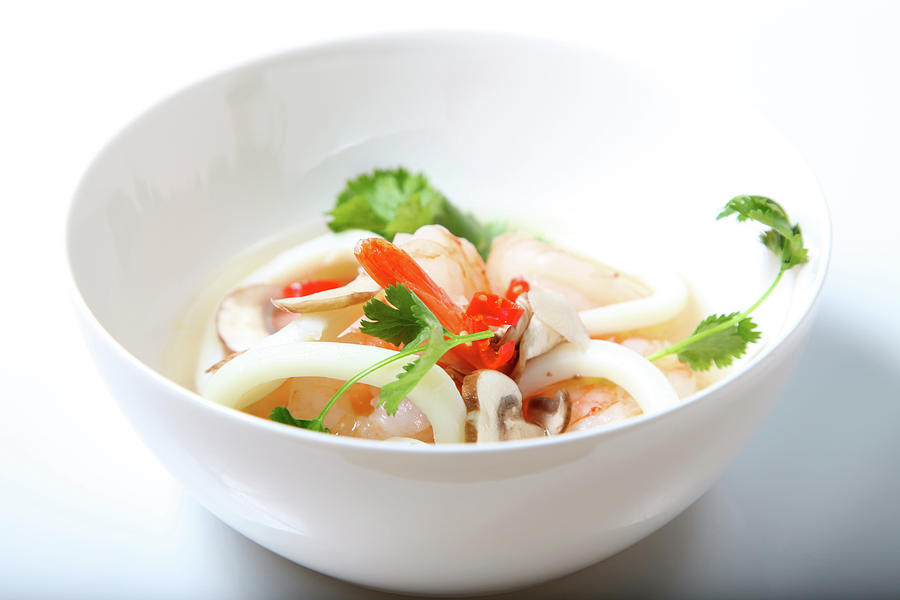 Tom Yum Goong, Hot And Sour Soup Photograph by Lori Andrews