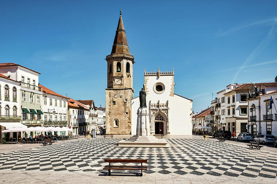Tomar Main Square - Portugal by Stuart Litoff
