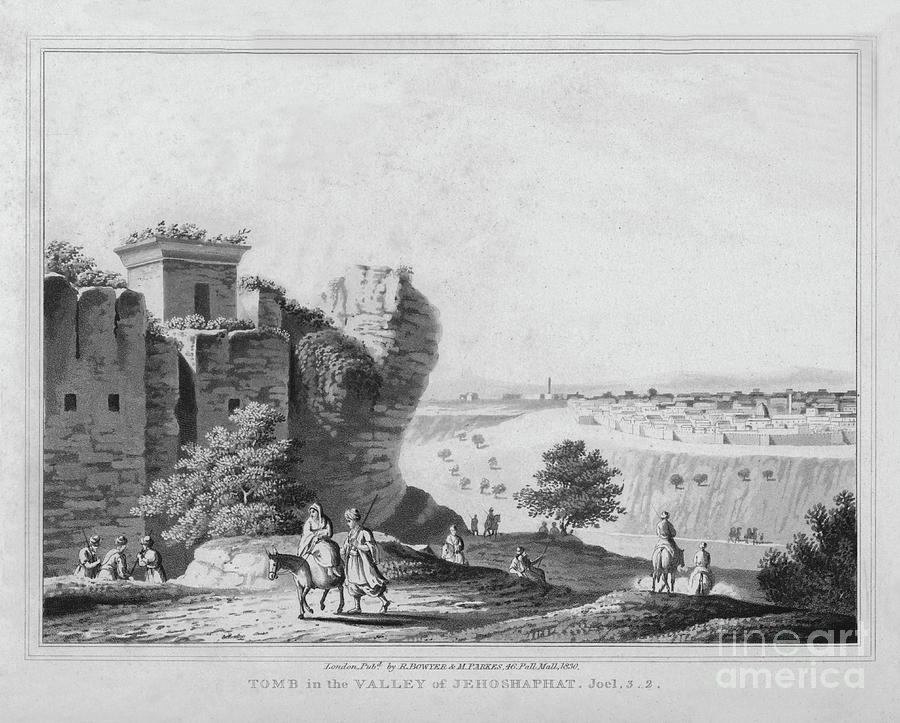 Tomb In The Valley Of Jehoshaphat Drawing by Print Collector
