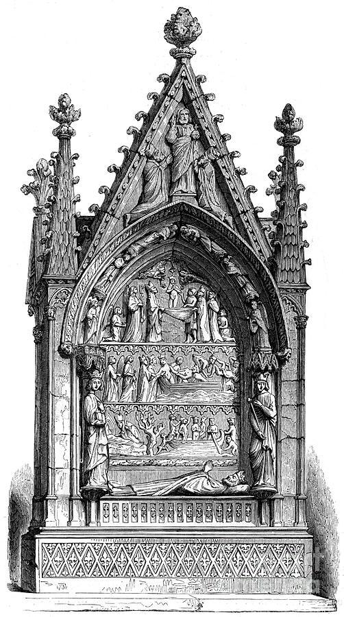 Tomb Of Dagobert I 603-689, Merovingian Drawing by Print Collector