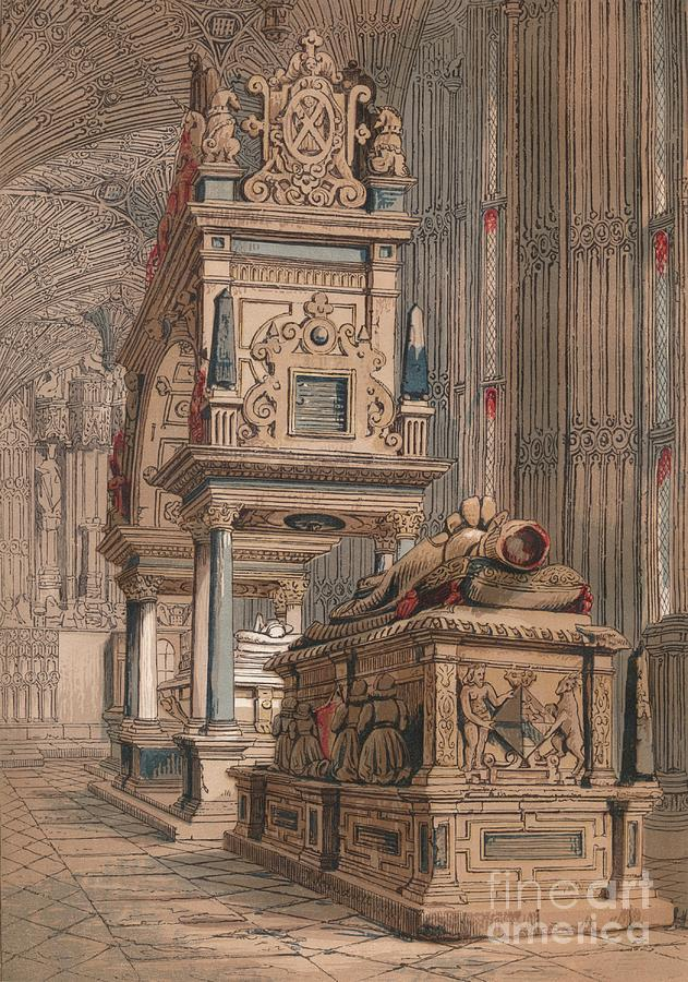 Tomb Of Queen Elizabeth, 1845 Drawing by Print Collector