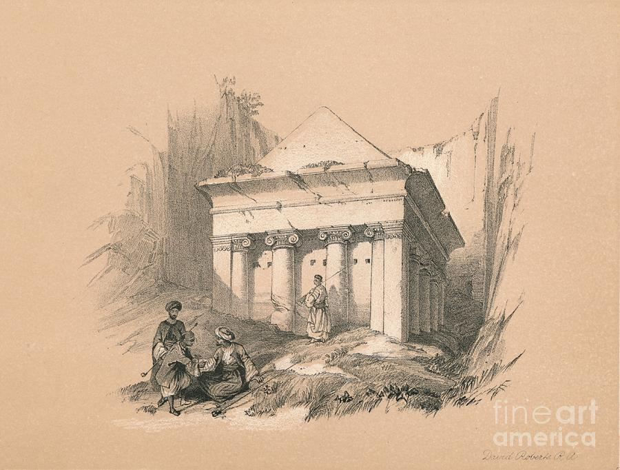 Tomb Of Zechariah, 1855 Drawing by Print Collector