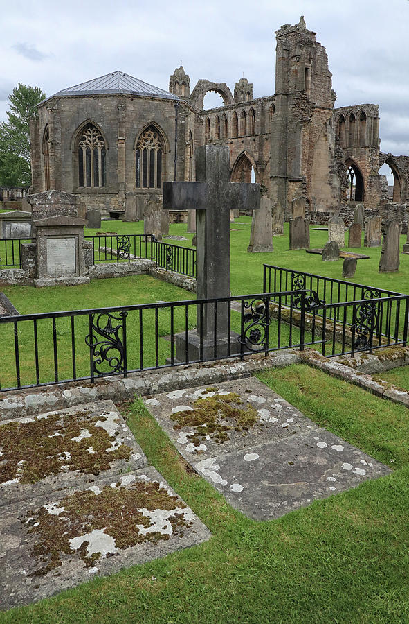 Tombstones and Graves at Elgin Cathedral by Dave Mills