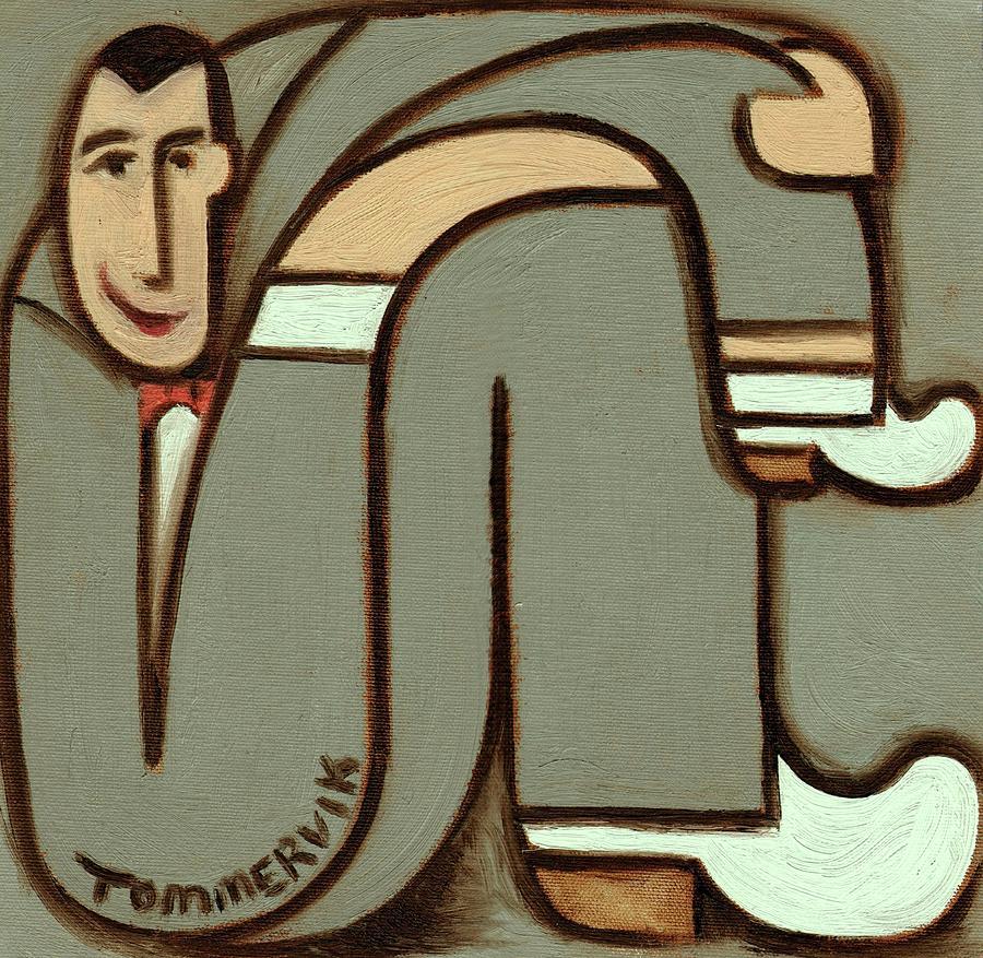 Pee-wee Herman Painting - Tommervik Figurative Pee-wee Herman Art Print by Tommervik