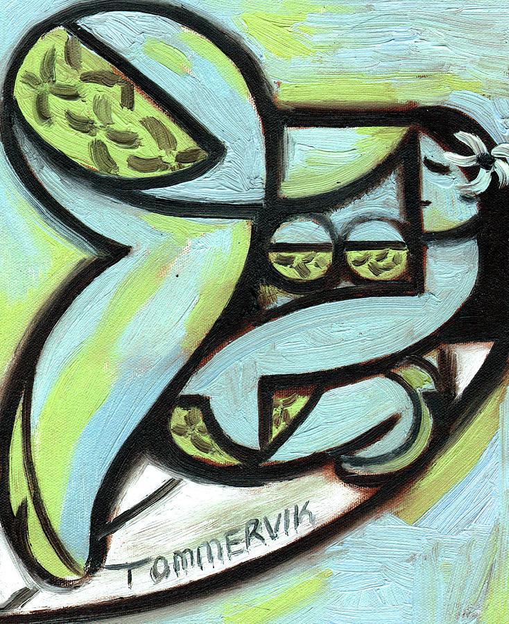 Tommervik Hawaiian Hula Surfer Art Print by Tommervik