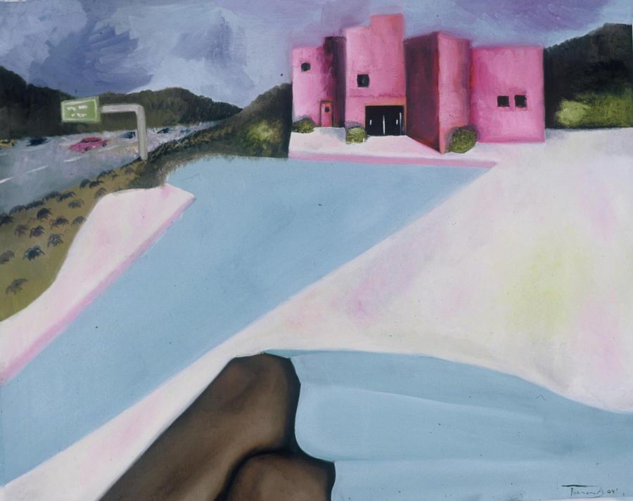 Tommervik Pool By The Freeway Art Print by Tommervik