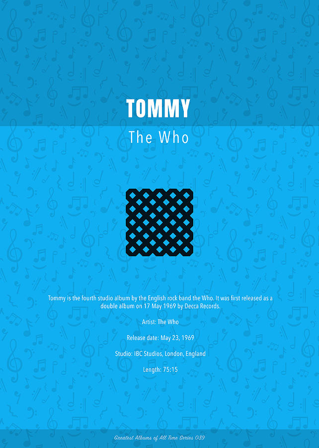 Tommy Mixed Media - Tommy The Who The Greatest Albums Of All Time Minimalist Series by Design Turnpike