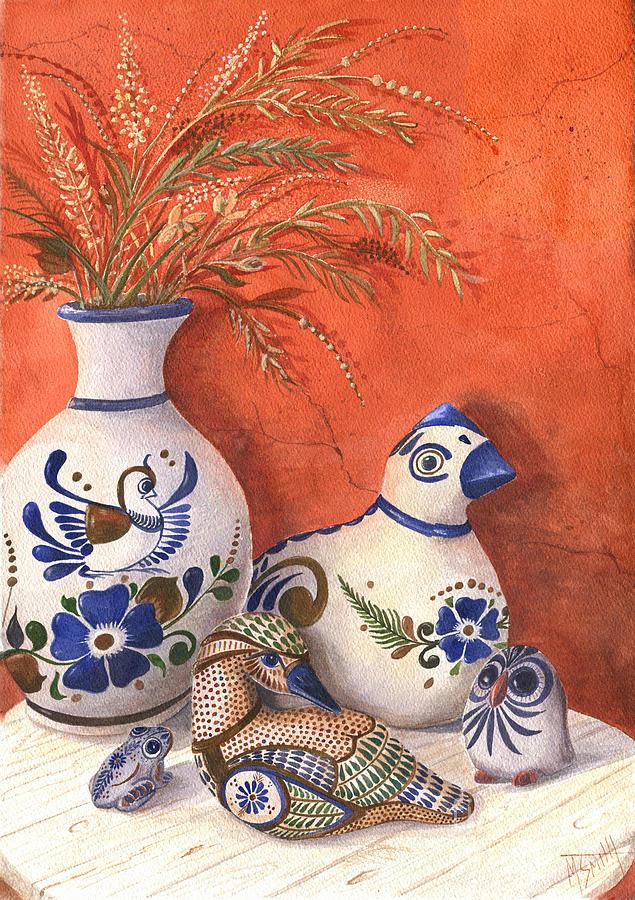 Tonala Pottery Still Life by Marilyn Smith