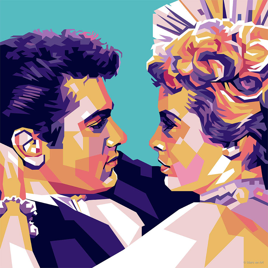 Tony Curtis And Janet Leigh Digital Art