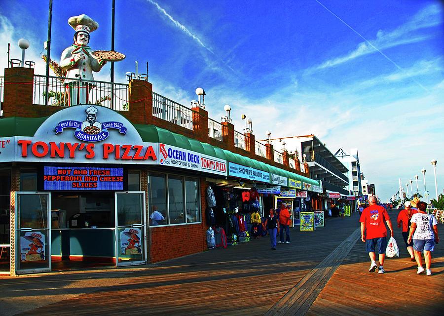 Tony's Pizza. Boardwalk in Ocean City, MD by Bill Jonscher