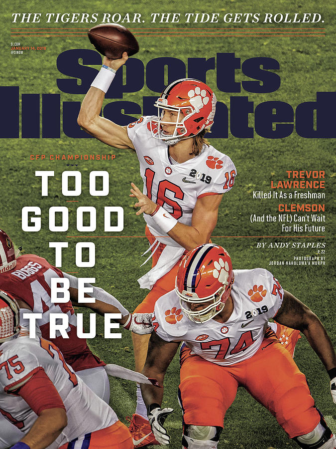 Too Good To Be True Trevor Lawrence Killed It As A Sports Illustrated Cover Photograph by Sports Illustrated