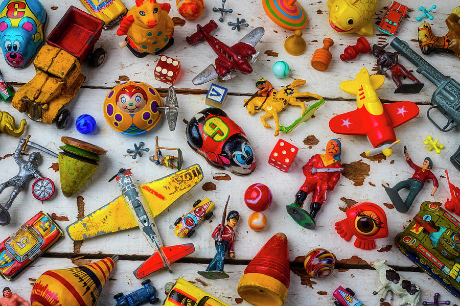 Marbles Photograph - Too Many Toys by Garry Gay