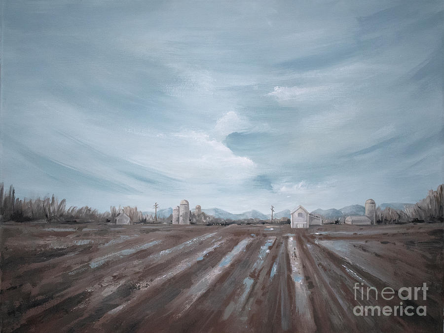 Spring Rain - Farm Landscape by Annie Troe