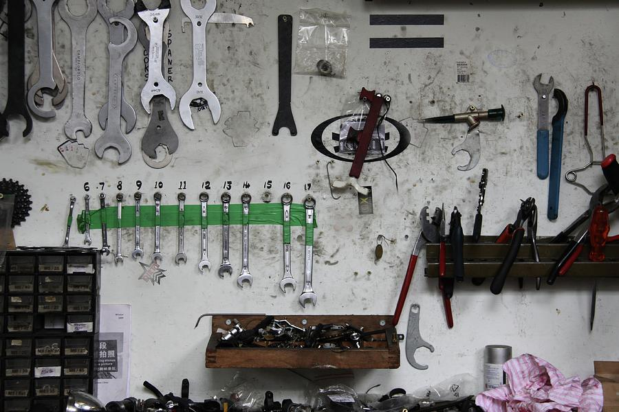 Tools In A Workshop Photograph by Greg Burke