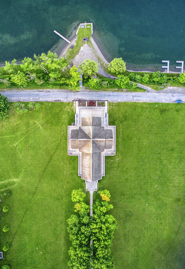 Top Down View Of Norton Chapel by Ants Drone Photography