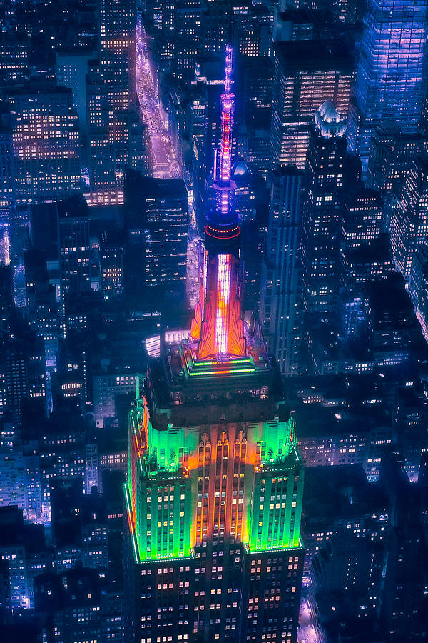 Empire State Photograph - Top Of The Empire by Javier De La Torre