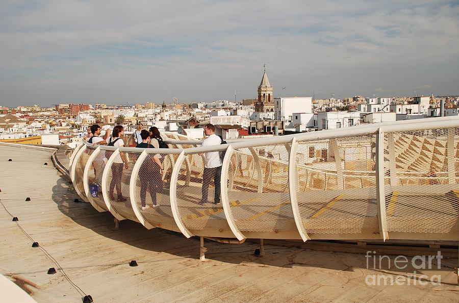 Top of the Metropol Parasol in Seville by David Fowler