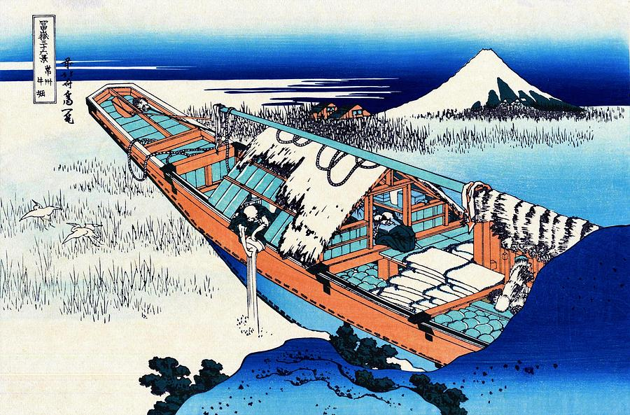Mount Fuji Painting - Top Quality Art - Mt,fuji36view-joshu Ushibori by Katsushika Hokusai