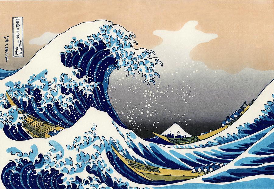 Katsushika Hokusai Painting - Top Quality Art - The Great Wave off Kanagawa by Katsushika Hokusai