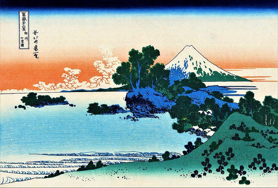 Mount Fuji Painting - Top Quality Art - Mt,fuji36view-soshu Shichirigahama by Katsushika Hokusai