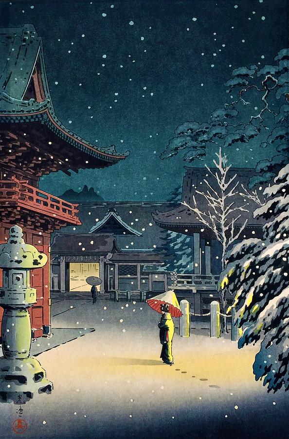 Tsuchiya Painting - Top Quality Art - Nezu Temple by Tsuchiya Koitsu