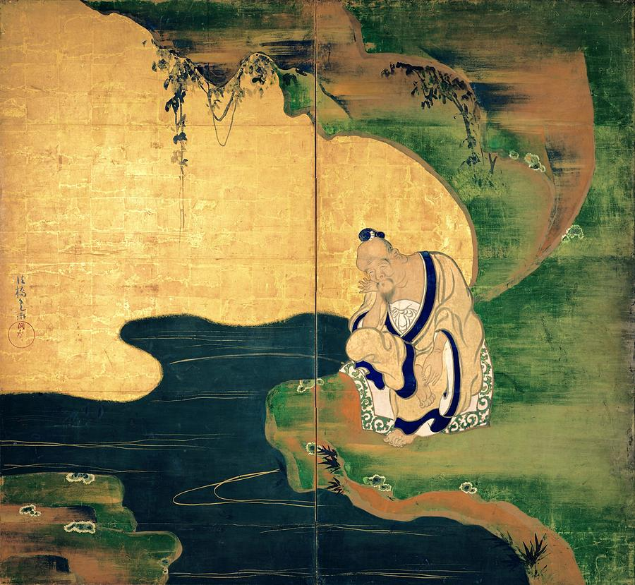 Ogata Korin Digital Art - Top Quality Art - Tai Gong Wang by Ogata Korin