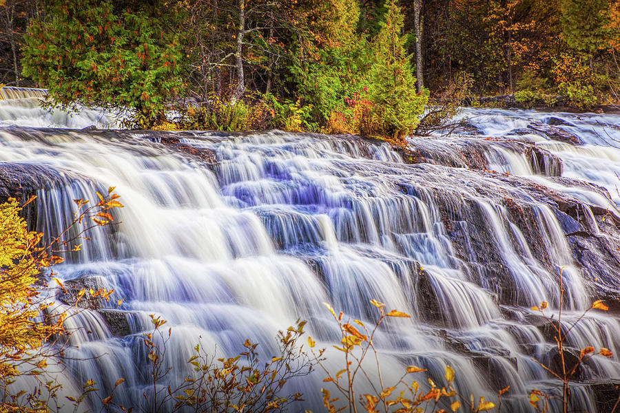 Top View of Bond Water Falls in the Michigan Upper Peninsula by Randall Nyhof