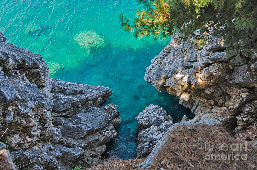 Color Photograph - Top View Of Cliffs, Bays, Clear Sea by Kato.72