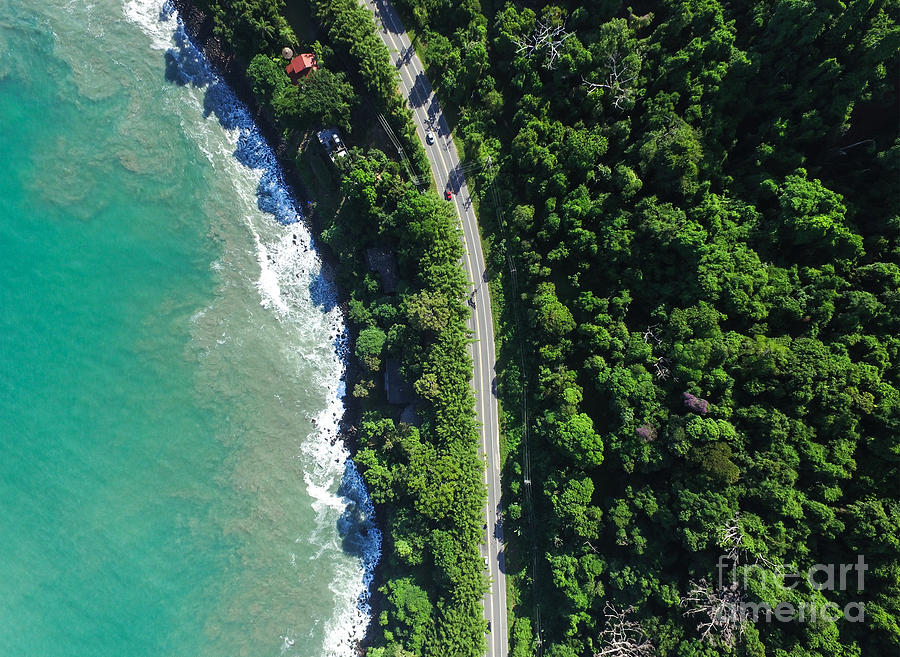 De Photograph - Top View Of Highway In A Coastline by Gustavo Frazao