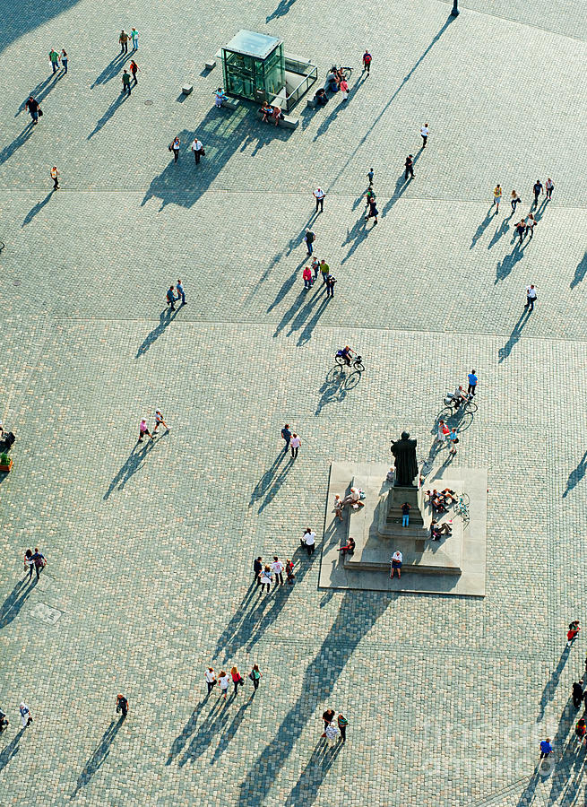 German Photograph - Top View Of  Neumarkt Square In by Joyfull