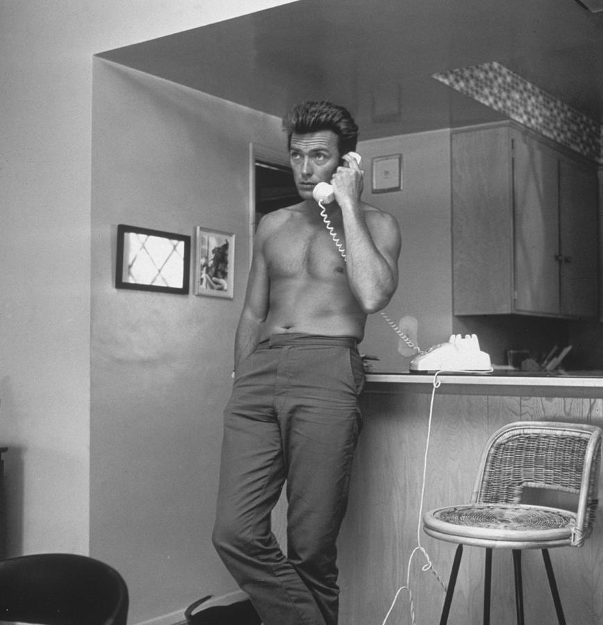 Topless Clint Photograph by Hulton Archive
