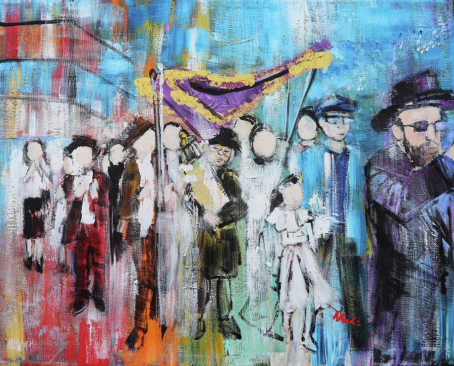 Torah Painting - Torah Dedication Alexandria 2 201905 by Alyse Radenovic