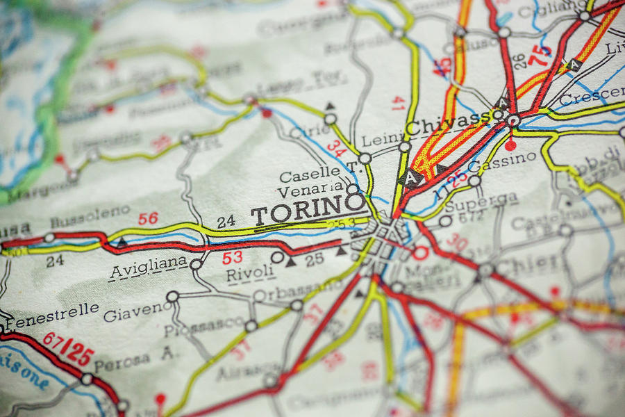 Map Of Italy Torino.Torino Italy Map By Erin Cadigan